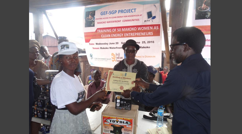 GEF-SGP and the UNDP trains Clean Energy Entrepreneurs and Solar Installers in Makoko