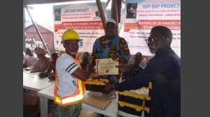 GEF-SGP, UNDP and King's Domain youths training on solar installation in Makoko