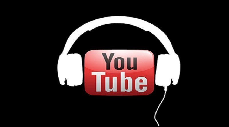 YouTube music service concept logo