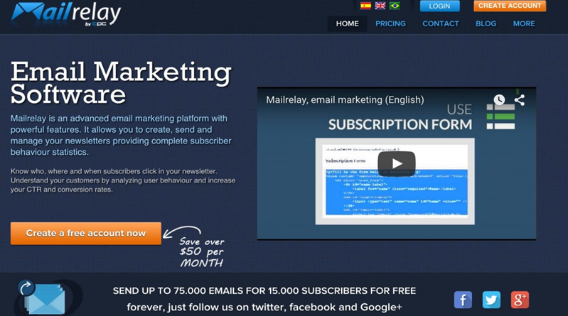 Mailrelay email marketing platform