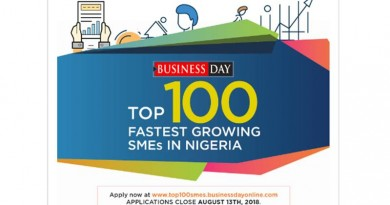It is our pleasure to invite you to apply for the BusinessDay Top 100 Fastest Growing SMEs Awards which is scheduled to take place on October 15, 2018. Facilitated by BusinessDay in partnership with Bossman Nigeria and Aim Higher Africa, the award is specially created to celebrate fast-growing SMEs that have been able to demonstrate great business excellence, ethical conduct, integrity, and social responsibility in the last business year.