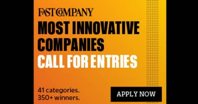 FASTCOMPANY MOST INNOVATIVE COMPANIES 2019 CALL FOR ENTRIES