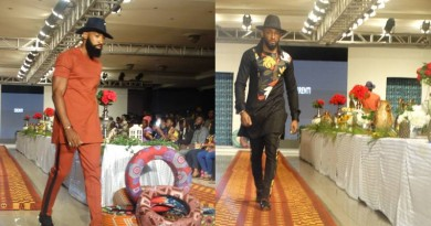 BRYAN OKWARA AND UTI NWACHUKWU ON THE RUN WAY OF AFWN2018