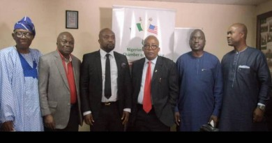 NACC OFFICIALS AND OFFICIALS OF FOOTPRINT TO AFRICA AT THE PRESS BRIEFING ON TIIF