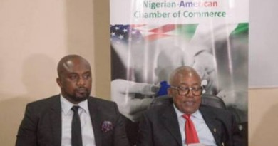 NACC President Otunba Oluwatoyin Akomolafe and CEO FootPrint to Africa Barr Osita Oparaugo at the TIIF Press Conference