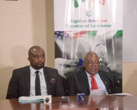 NACC President Otunba Oluwatoyin Akomolafe and CEO FootPrint to Africa Barr Osita Oparaugo at the TIIF Press Conference