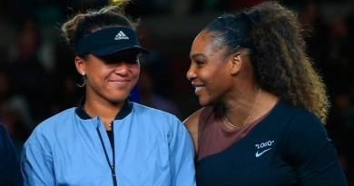 Naomi Osaka and Serena Williams