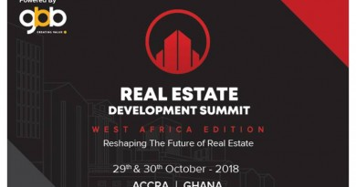 Real Estate Development Summit – West Africa – set to hold in Accra on October 29 and 30
