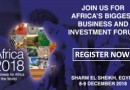 Africa 2018 Business and Investment Forum, 8-9 Dec. 2018, Sharm El Sheikh, Egypt