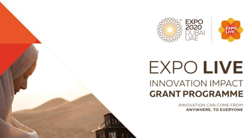 EXPO LIVE INNOVATION IMPACT GRANT PROGRAMME DUBAI2020
