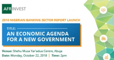NIGERIAN BANKING SECTOR REPORT LAUNCH
