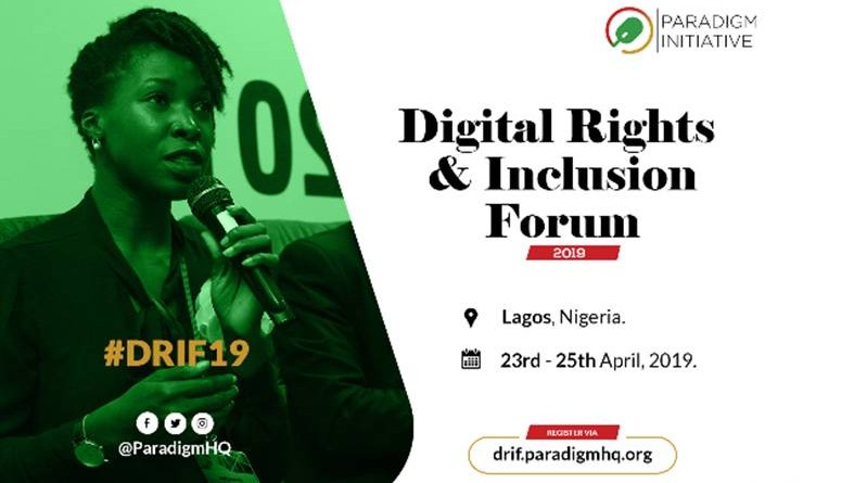 Lagos to host 2019 Digital Rights and Inclusion Forum DRIF19