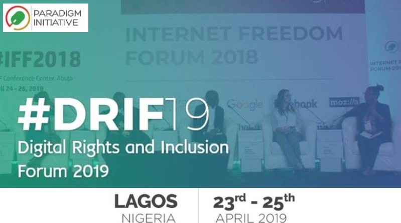 DIGITAL RIGHTS AND INCLUSION FORUM 2019