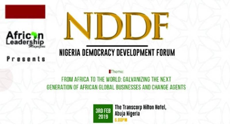 Nigeria Democracy & Development Forum, 2019