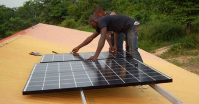 solar for health initiative for rural health centers in Africa
