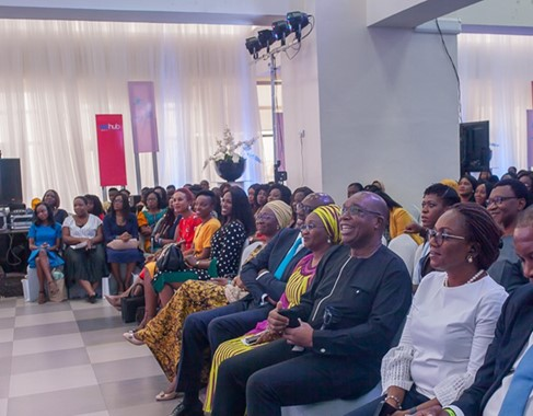 Cross section of the audience at the event .
