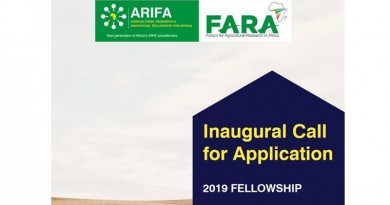 Agricultural Research and Innovation Fellowship 2019 for Africa (ARIFA)