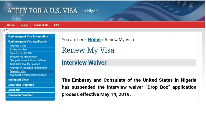 Image result for us embassy blocks nigeria appointment