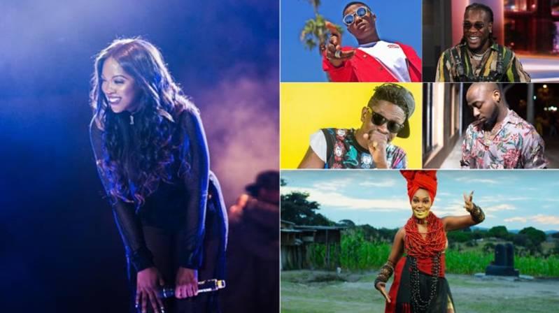 Tiwa Savage, Davido, Burna Boy, Simi Nominated for 2019