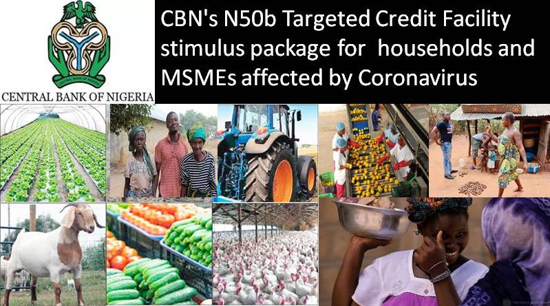 CBN's N50b Targeted Credit Facility stimulus package for households and MSMEs affected by Coronavirus
