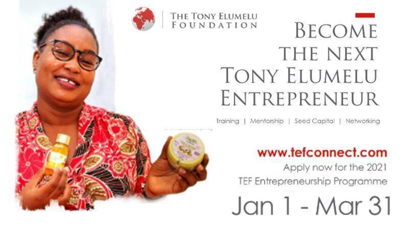 become the next TEF entrepreneur tony elumelu foundation 2021