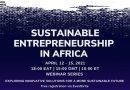 Sustainable Entrepreneurship in Africa 2021 Webinar Series